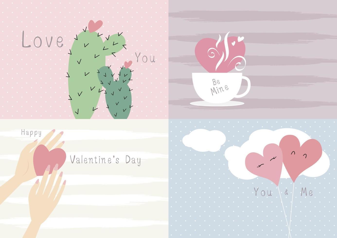 ilustração em vetor conceito amor cartão de dia dos namorados