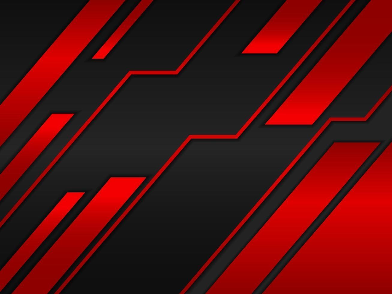 fundo abstrato com design de conceito de metal preto e vermelho vetor