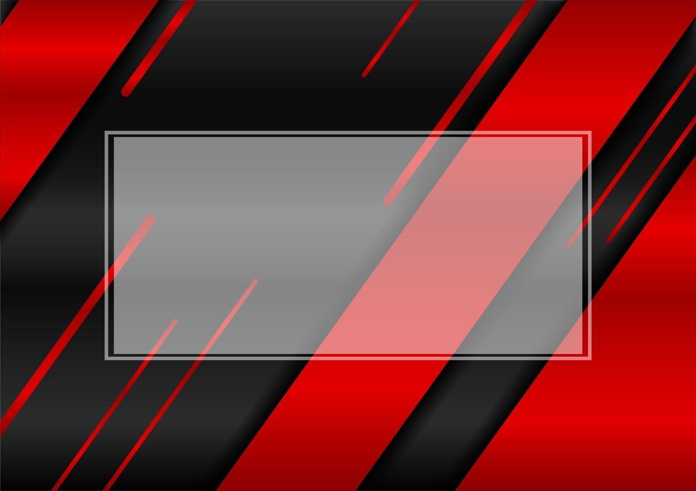 quadro abstrato com fundo de metal preto e vermelho design editável vetor