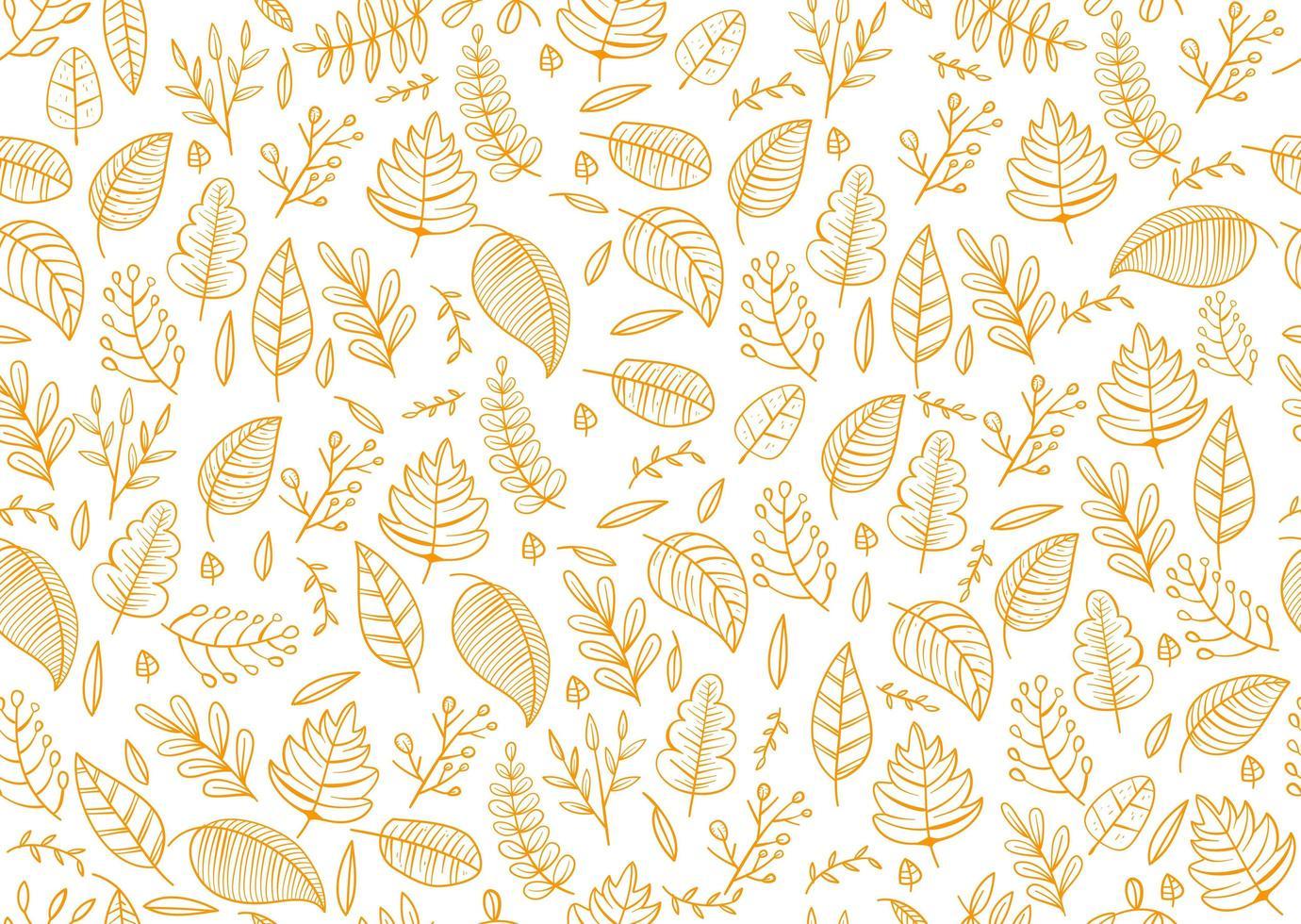 design de outono com folhas tropicais simples padrão sem emenda vetor