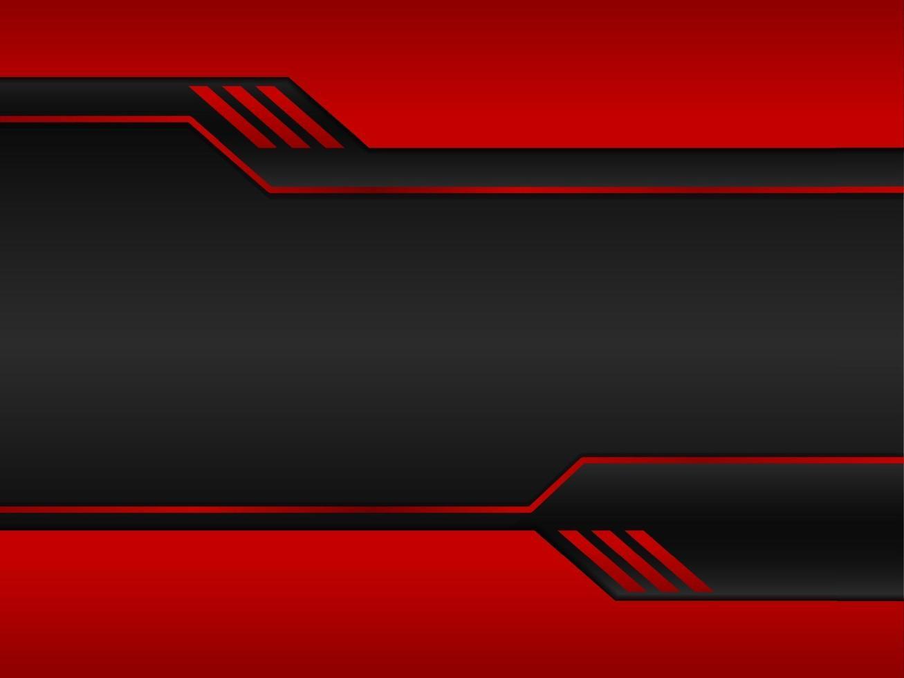 preto abstrato com fundo de metal vermelho vetor