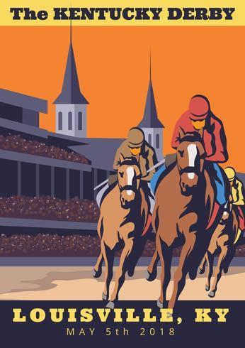 Convite do partido de Kentucky Derby vetor