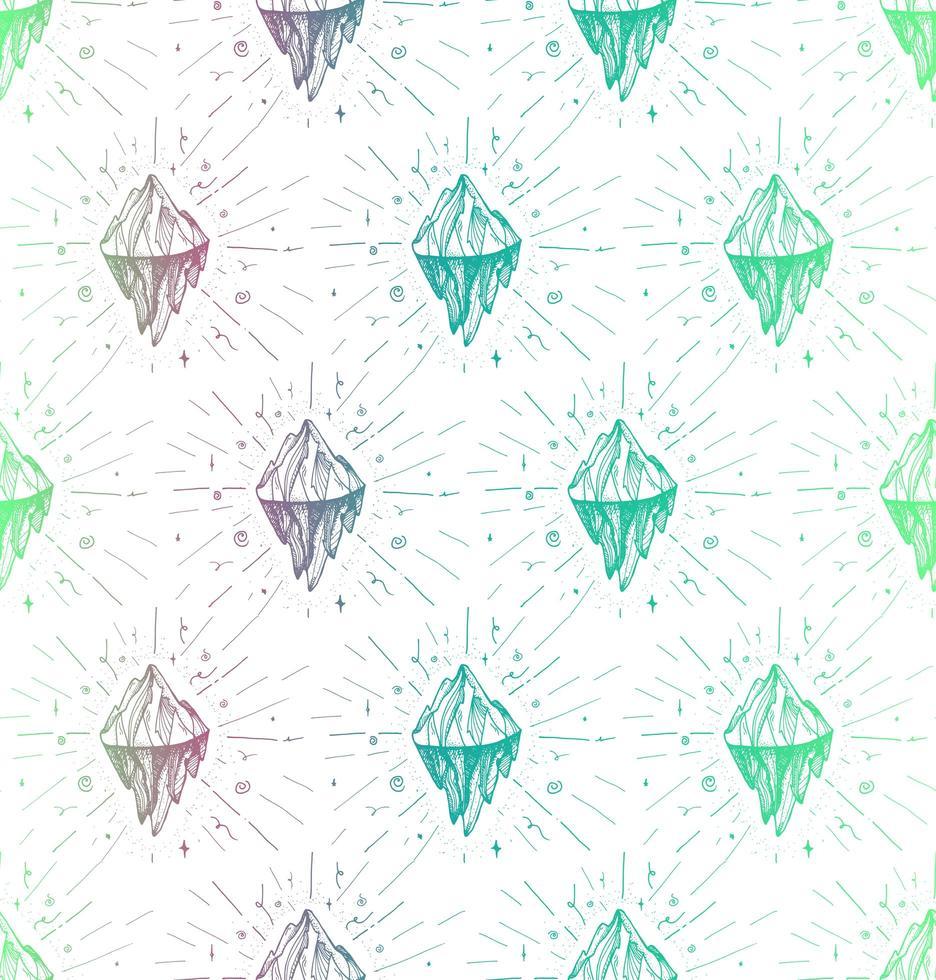padrão de pico de iceberg de montanha vetor