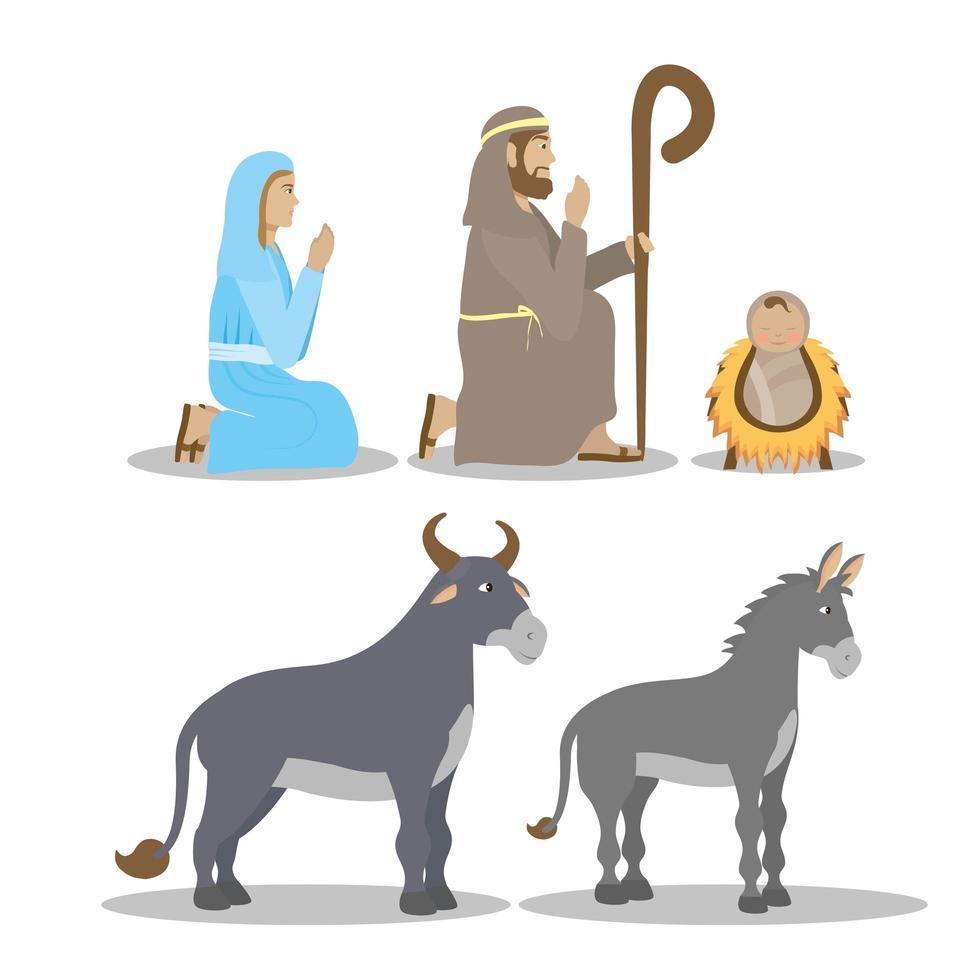 epifania de jesus conjunto de ícones vetor