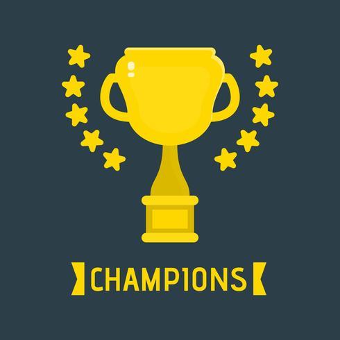 Ilustração do troféu dos campeões vetor