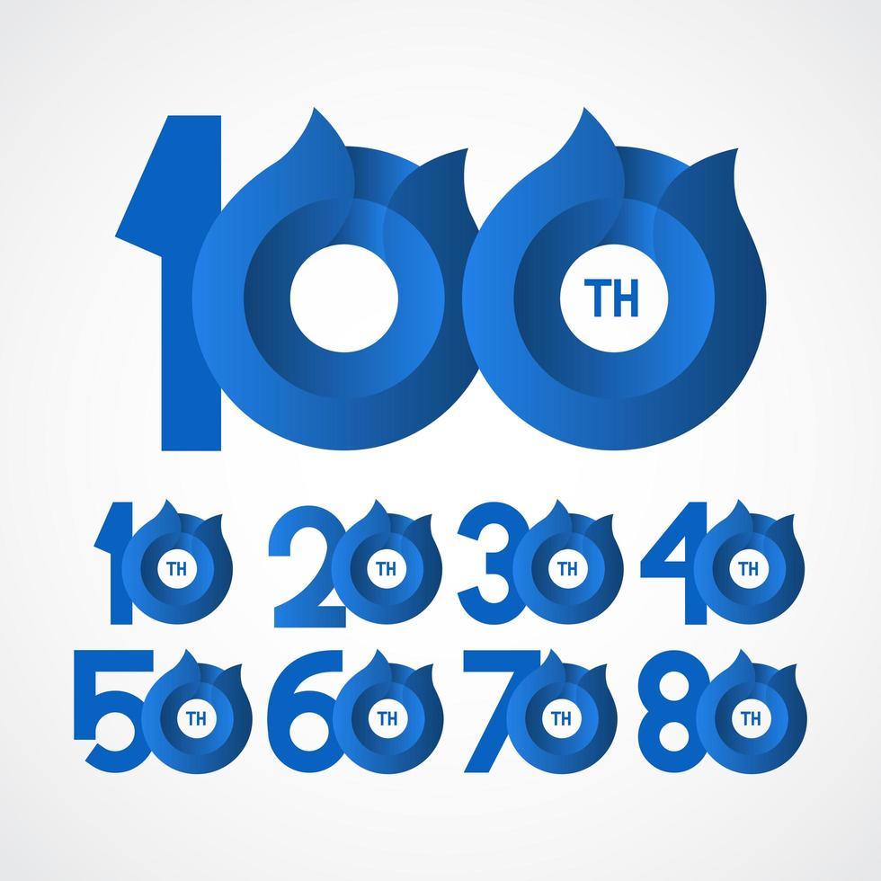 Ilustração de design de modelo vetorial comemorações do 100º aniversário vetor