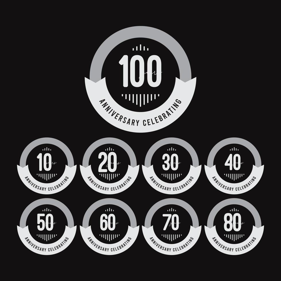 Ilustração de design de modelo vetorial comemorações de aniversário de 100 anos vetor