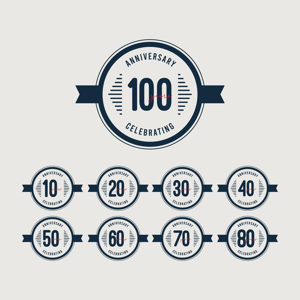 100 anos, comemorações de aniversário, retro, círculo, vetorial, modelo, design, illustration vetor