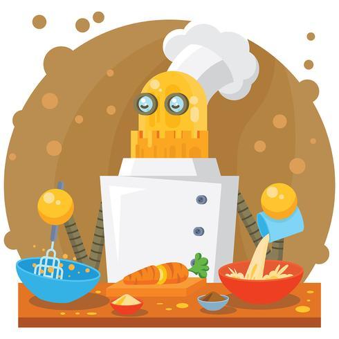 ai cuisine illustration vetor