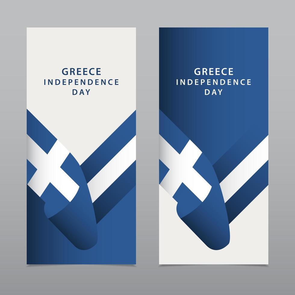 ilustração de design de modelo vetorial feliz celebração do dia da independência da Grécia vetor