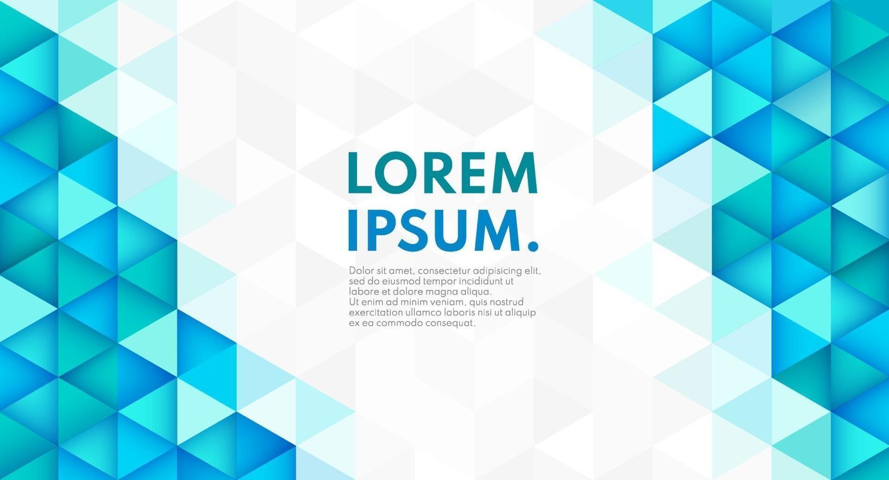 forma geométrica de cor na moda abstrata em fundo cinza branco com espaço de cópia. cor azul e verde do teste padrão da tecnologia futurista moderna. você pode usar como modelo, banner web. ilustração vetorial vetor