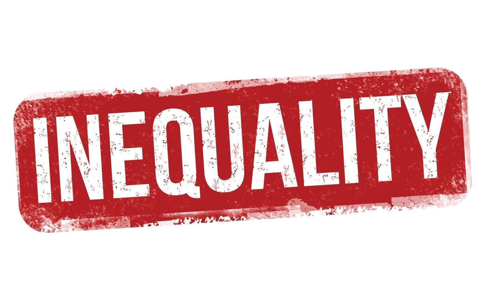 sinal ou carimbo de desigualdade vetor