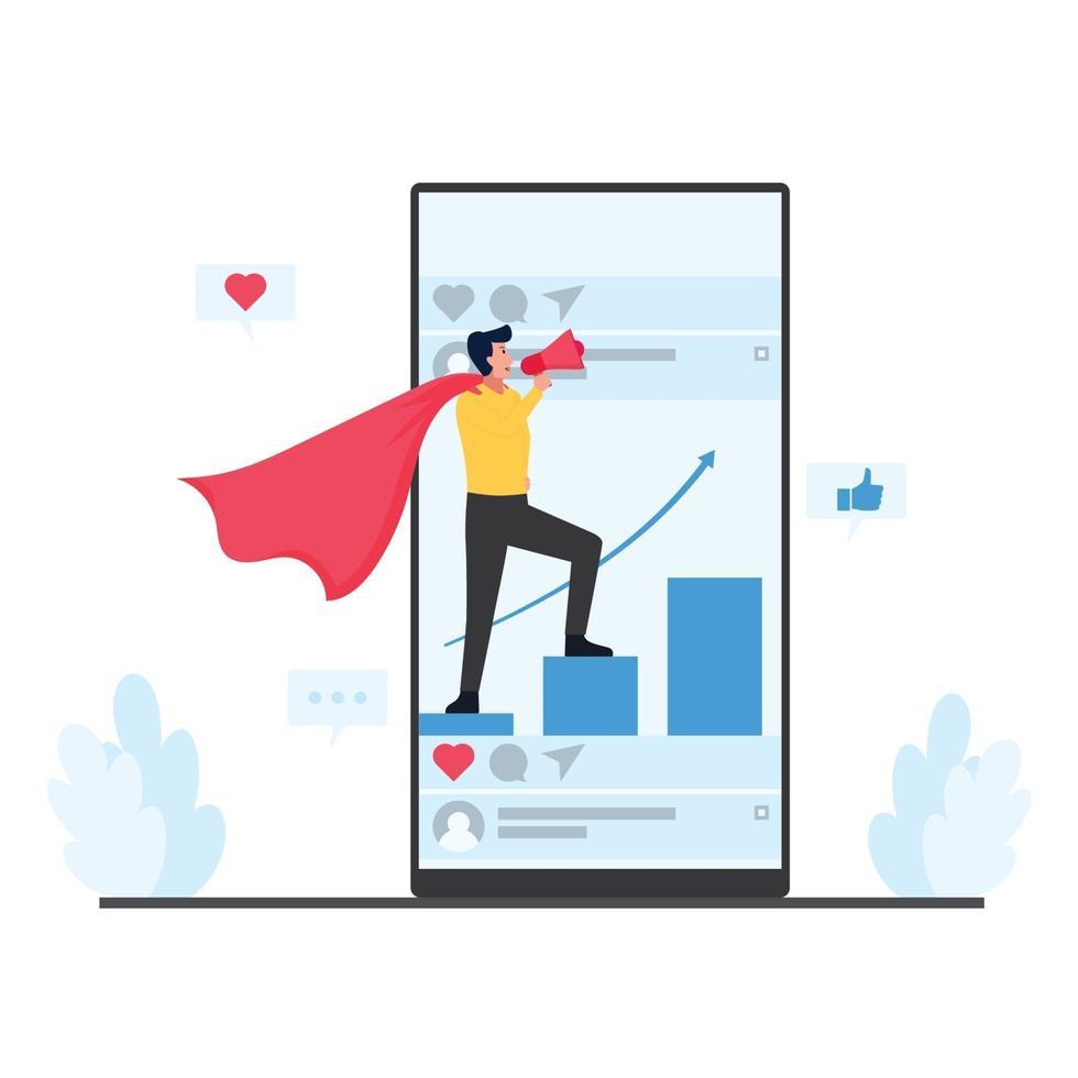 ilustração do conceito de marketing móvel vetor