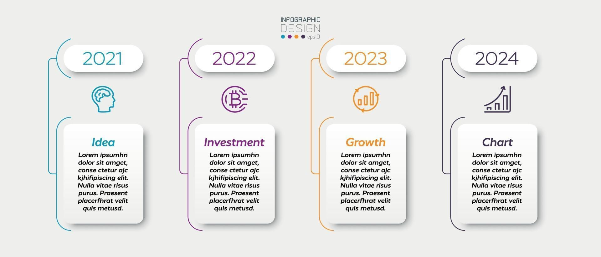 quadrados de design são usados para mostrar desempenho, crescimento, marketing, negócios, empresa. projeto infográfico. vetor
