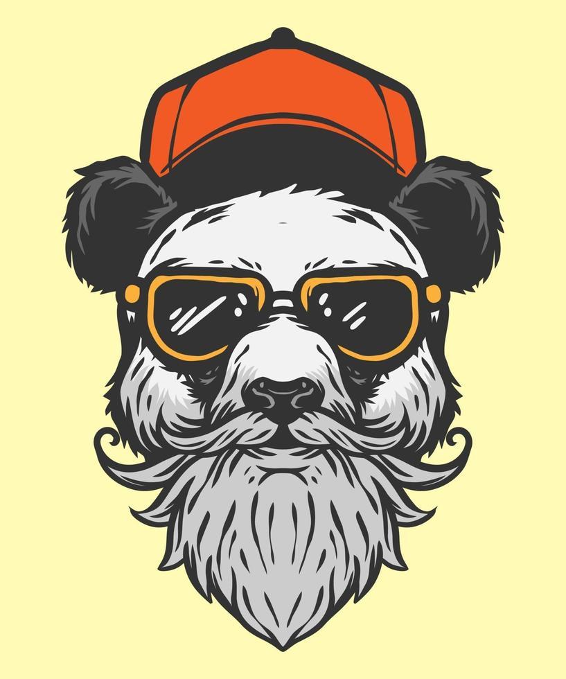 estilo moderno de ilustração de panda vetor