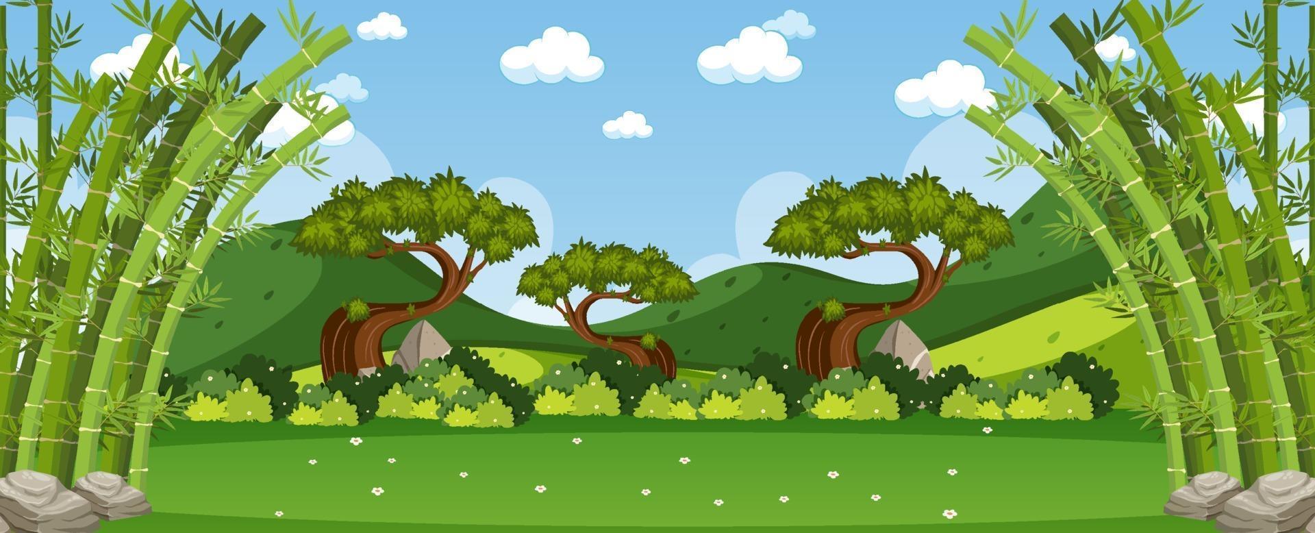 cena da paisagem ao ar livre da natureza vetor