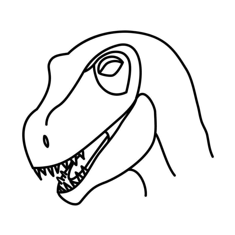 ícone do raptor de Utah. doodle desenhado à mão ou estilo de ícone de contorno preto vetor