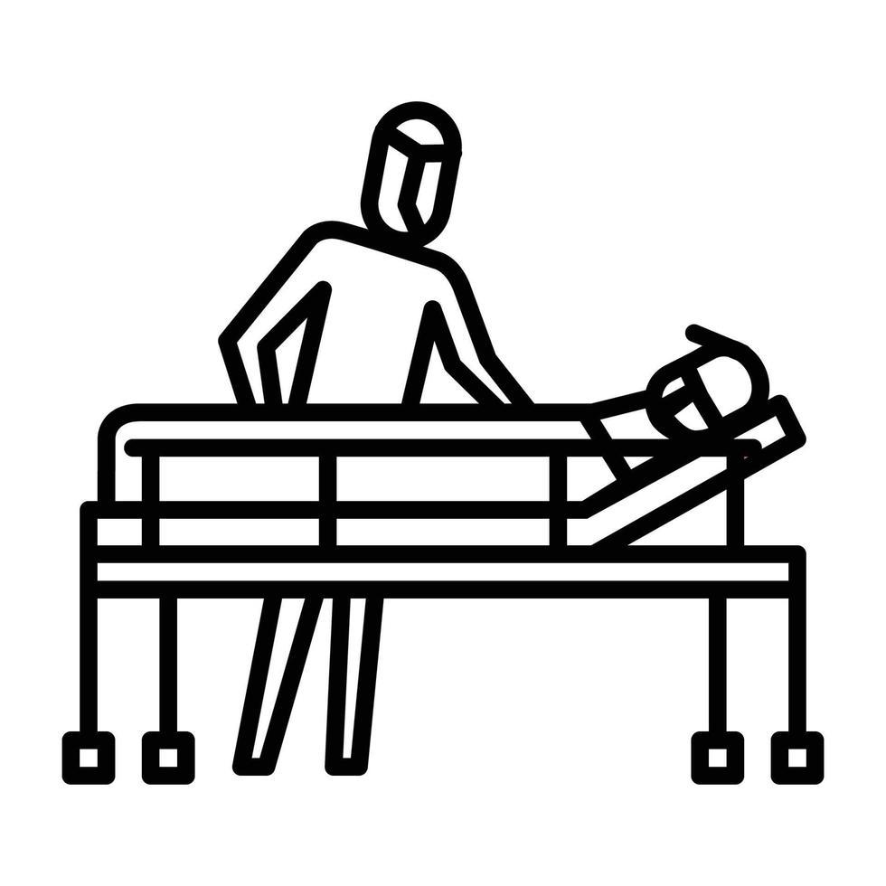 trazer para o ícone do hospital. símbolo de atividade ou ilustração para lidar com o vírus corona vetor