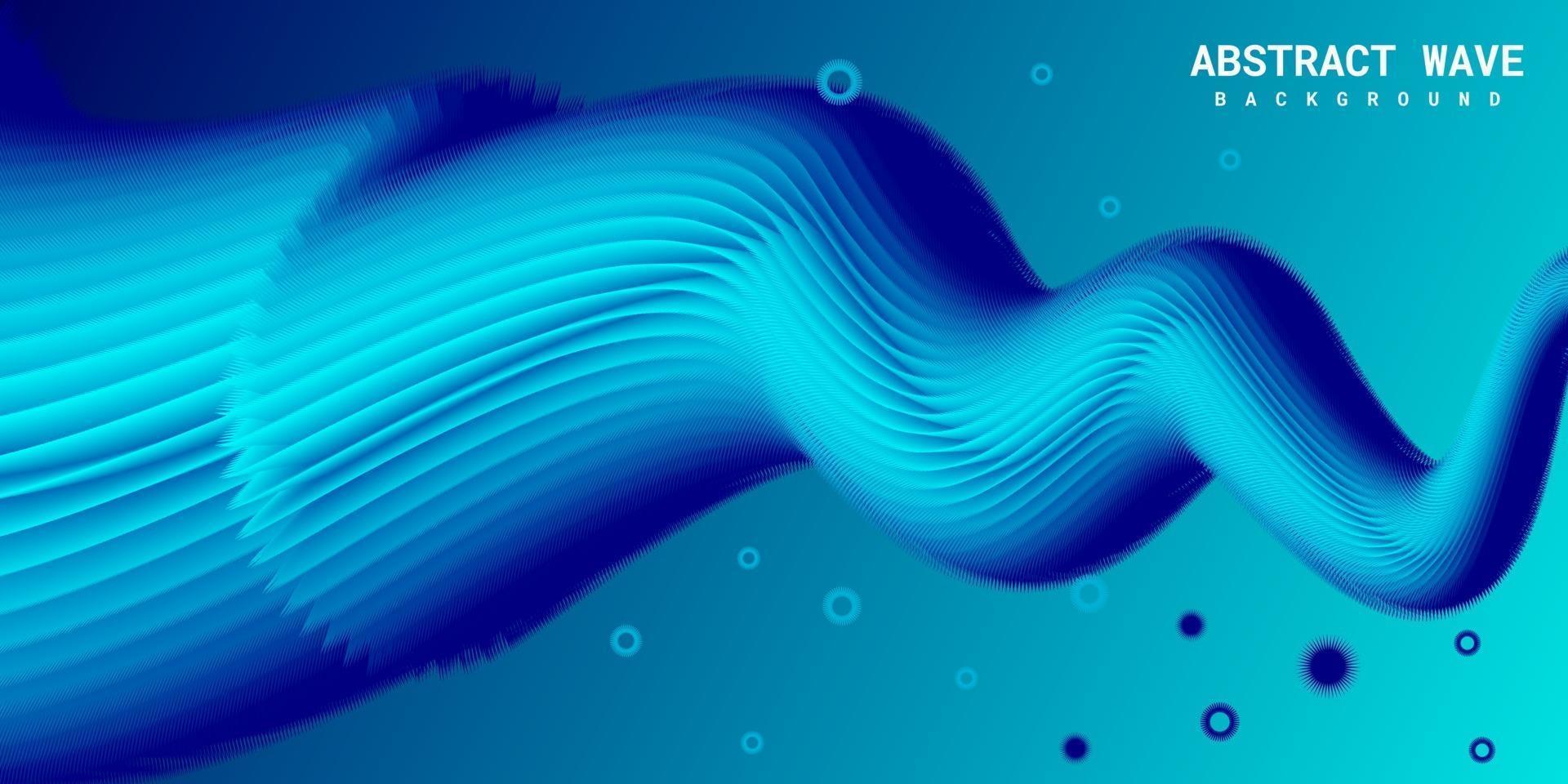fundo 3d líquido abstrato moderno com gradiente azul vetor
