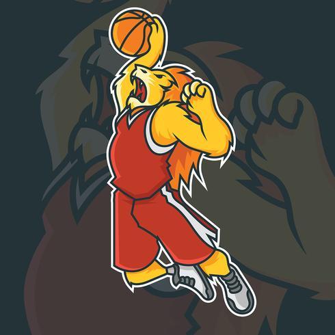 Mascote de basquete vetor