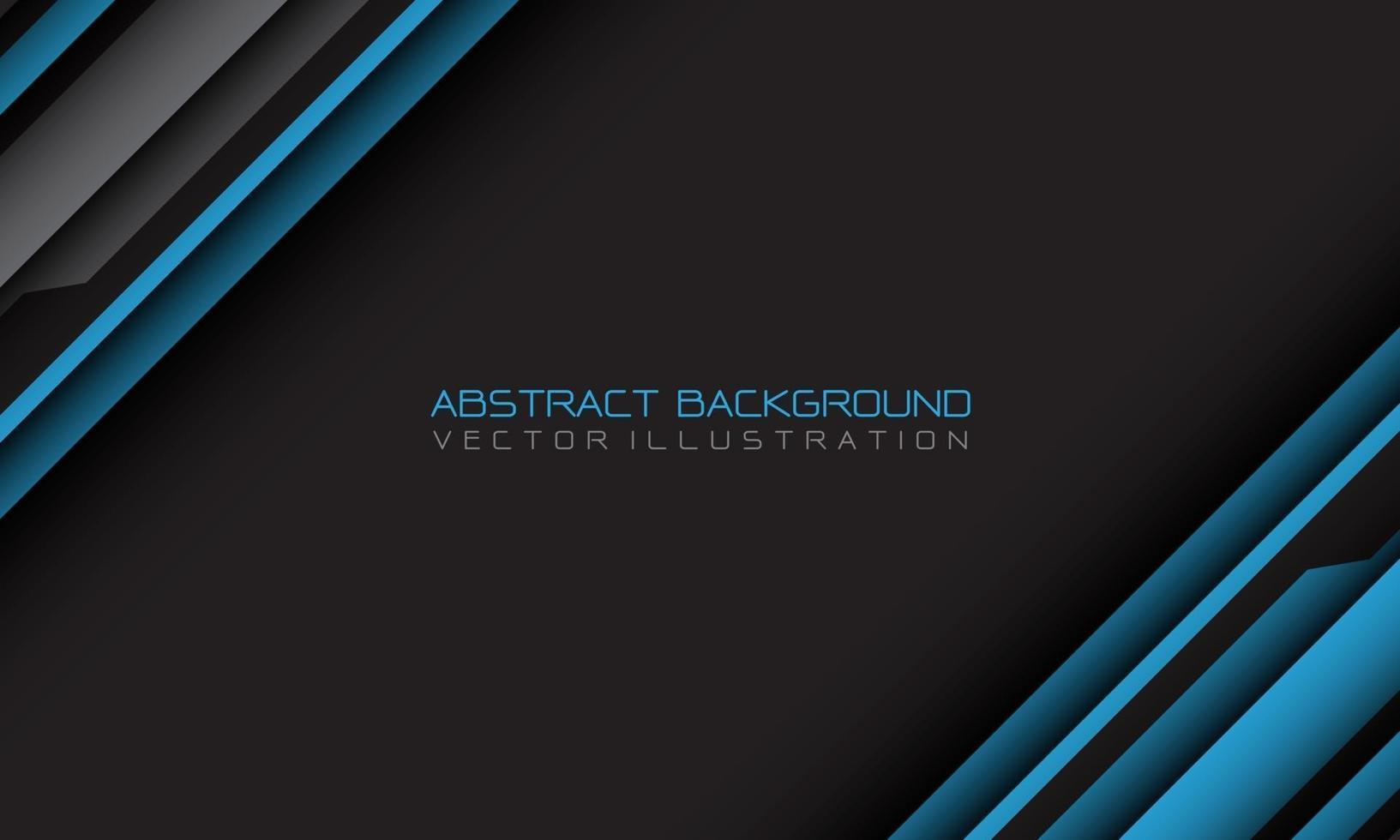abstrato azul cinza cyber barra geométrica com espaço em branco e design de texto ilustração vetorial de fundo futurista moderno. vetor