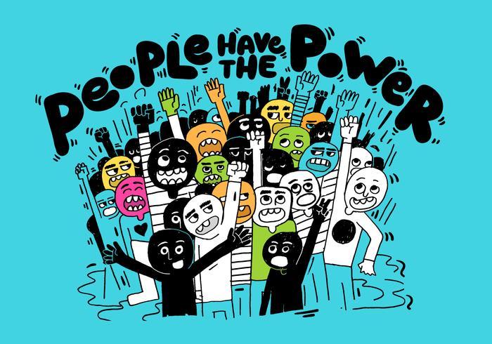 ilustração de poder de pessoas vetor