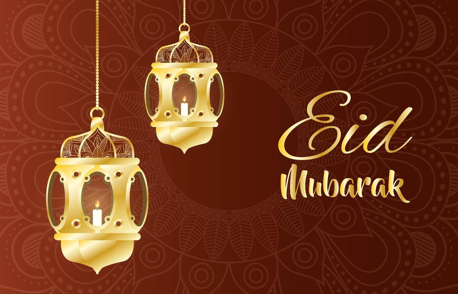 lâmpadas penduradas para decoração kareem do ramadã vetor