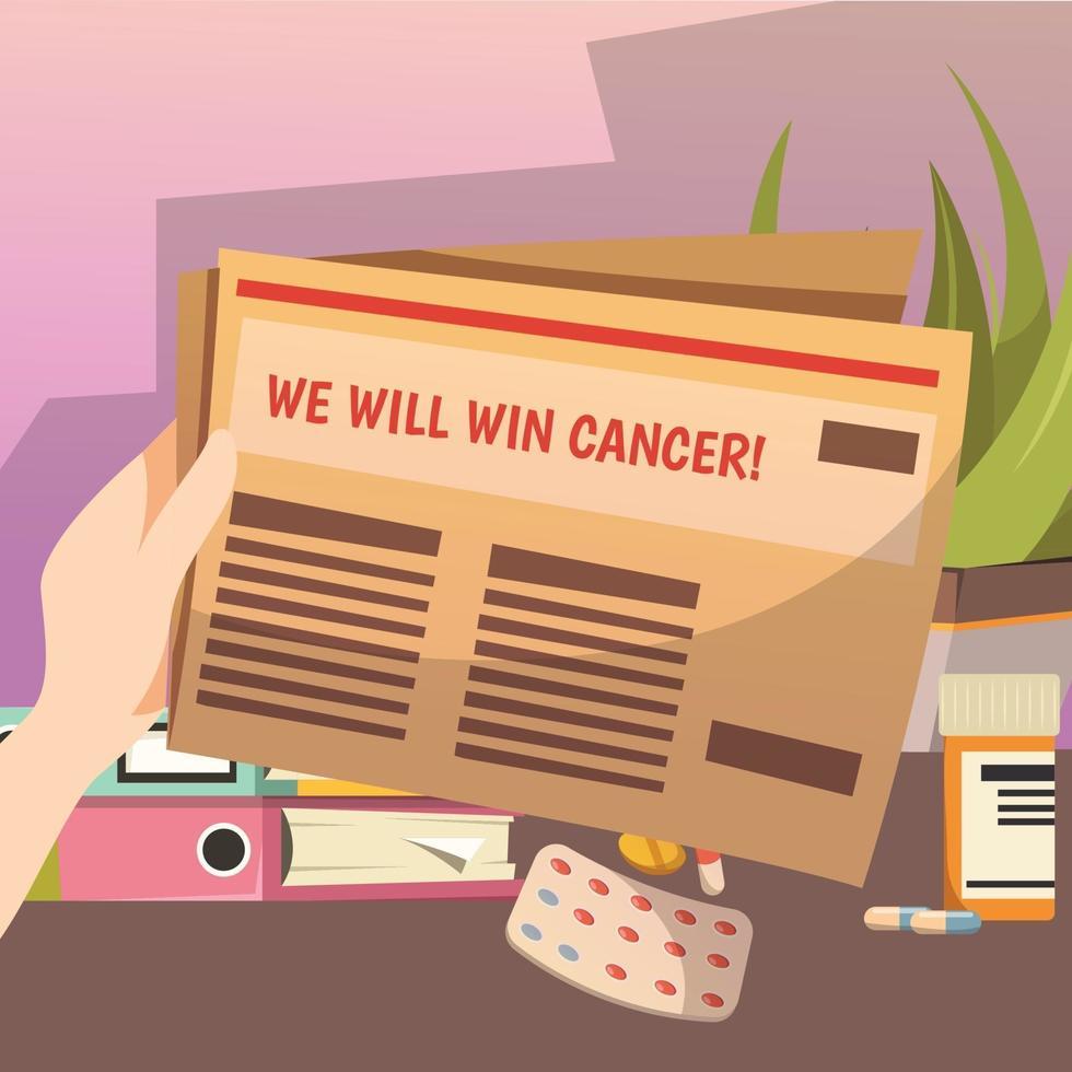 derrotar a composição ortogonal do câncer vetor