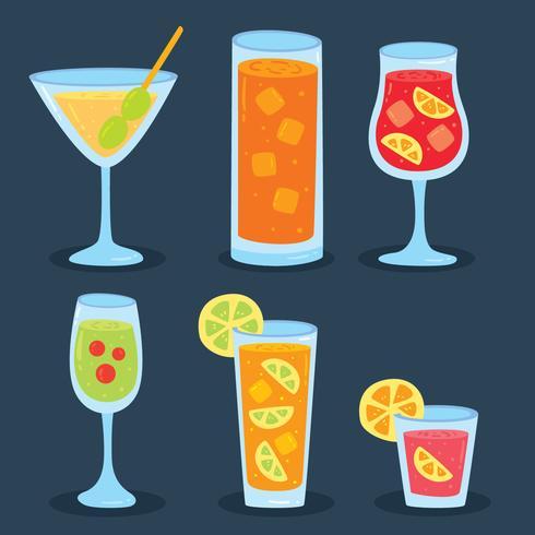 Vector bom menu de cocktails