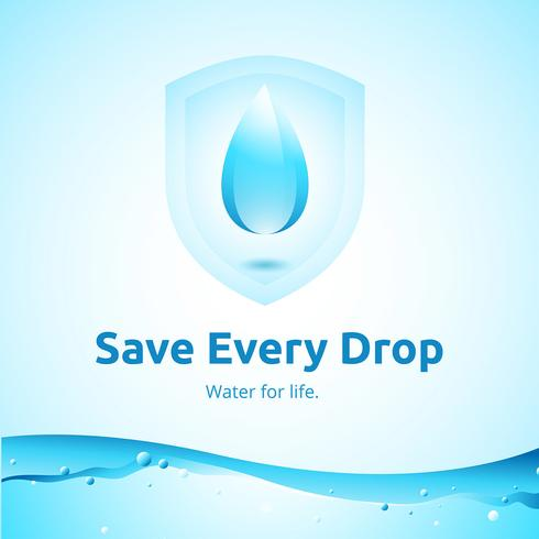 Vetor de campanha de defesa da água limpa