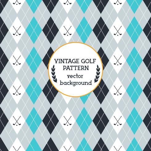 Vetor de padrão de golfe vintage