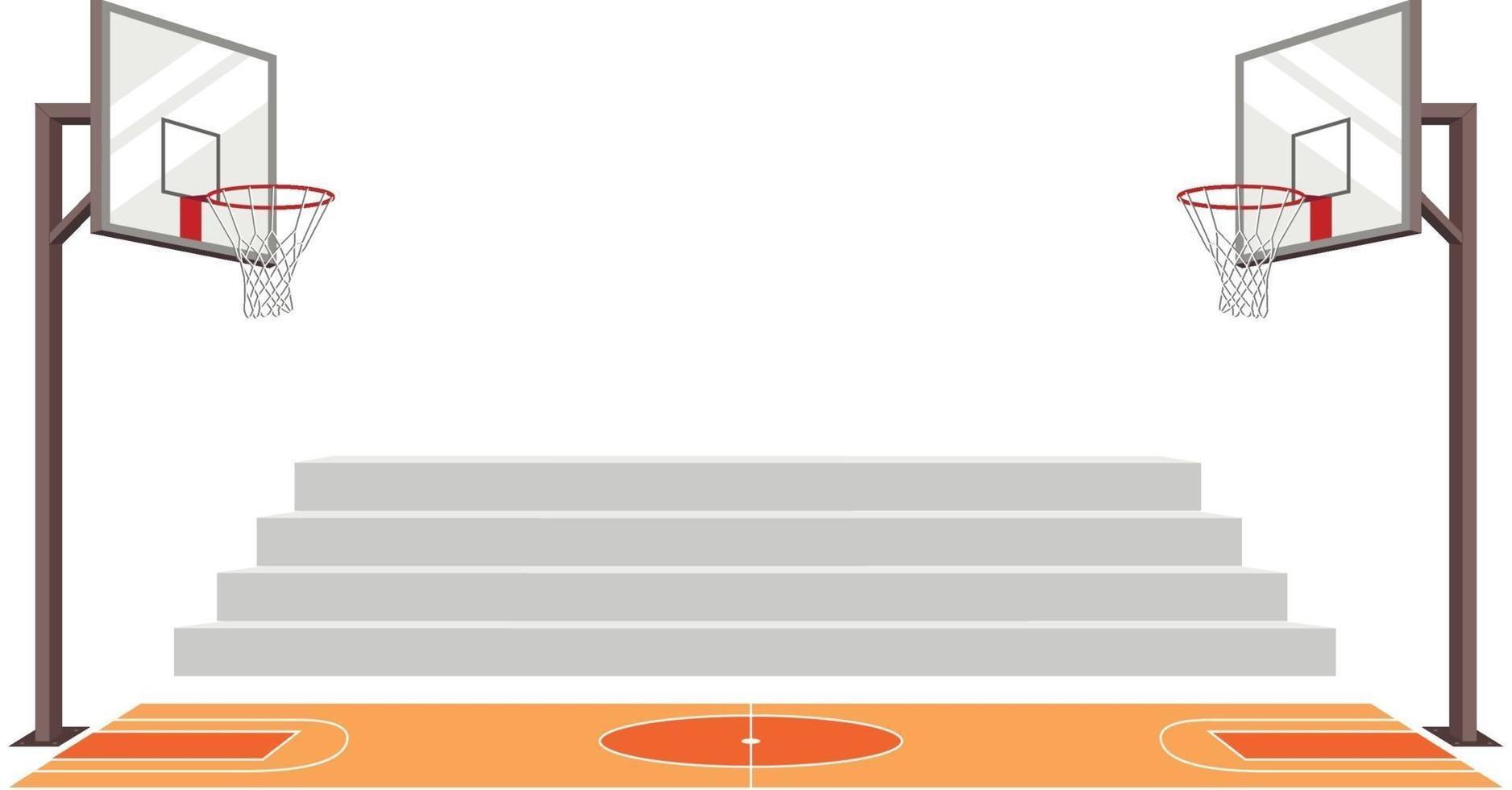 quadra de basquete esportiva. corresponder ilustração vetorial. jogo de esportes. vetor