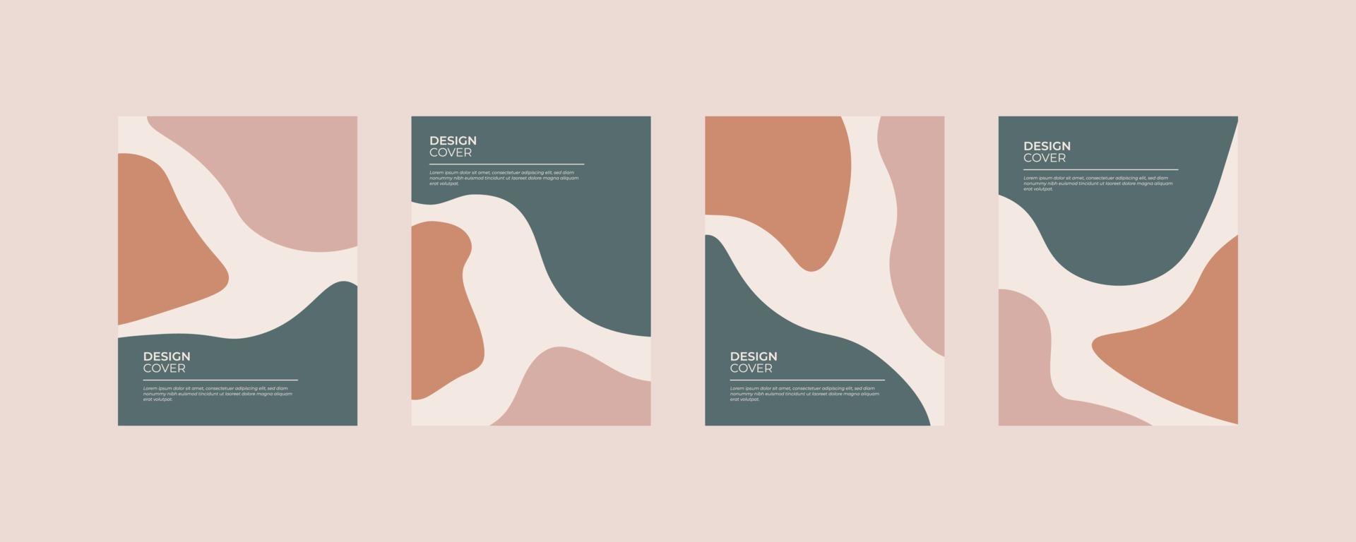 conjunto de modelos de design de capa universal criativa abstrata. vetor