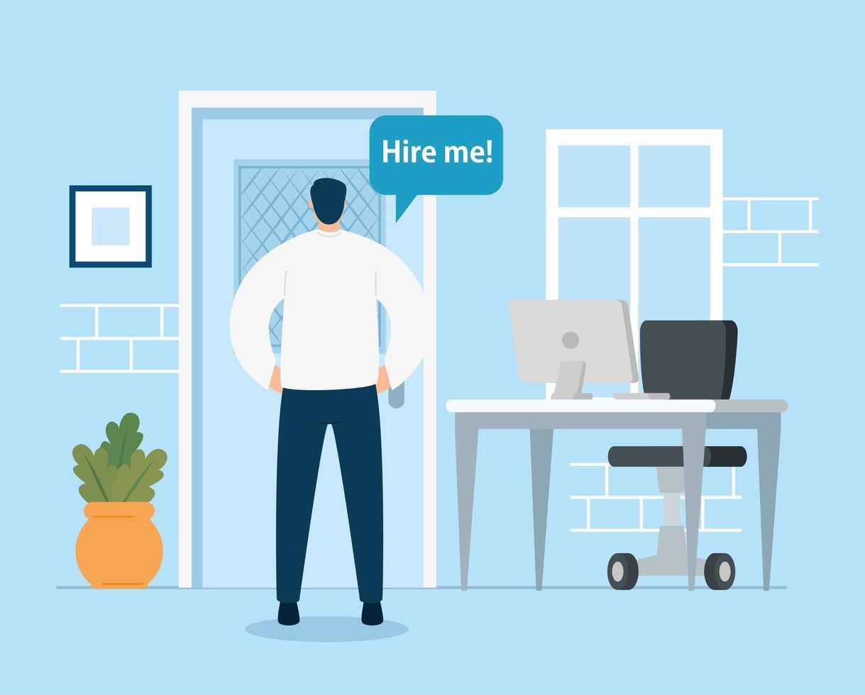 empresário à procura de emprego vetor