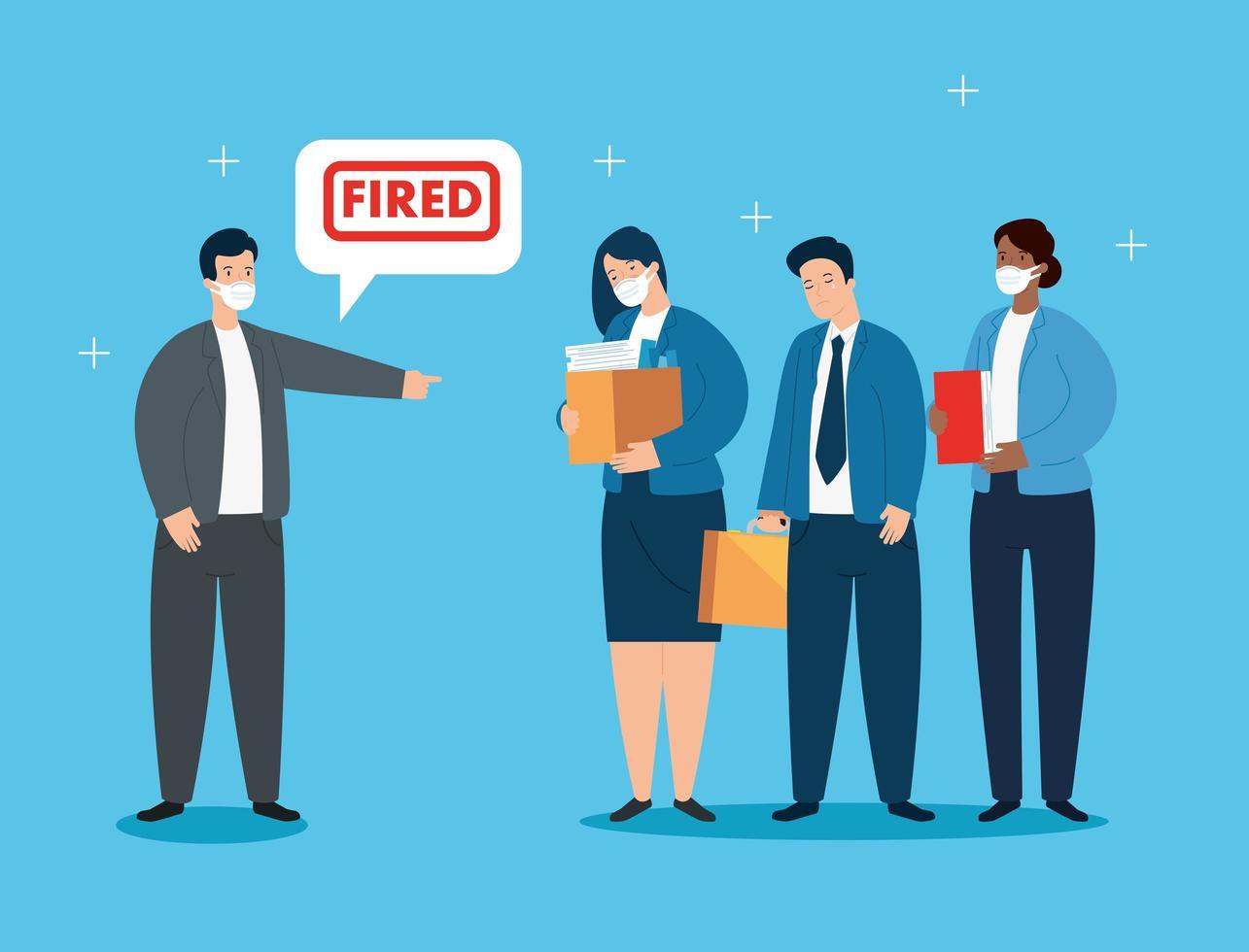 empresários sendo demitidos vetor