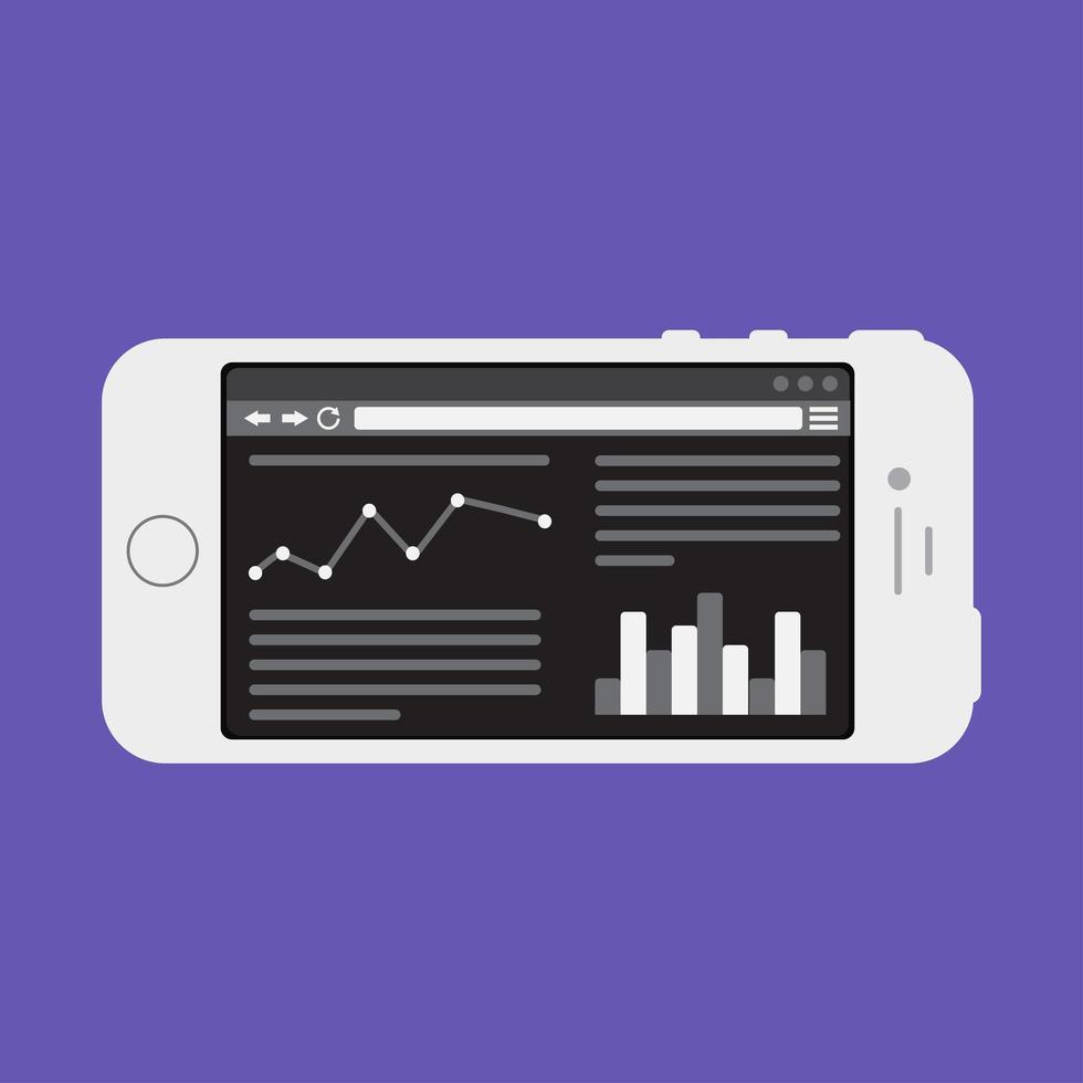 modelo da web de site para smartphone ou formulário de artigo vetor