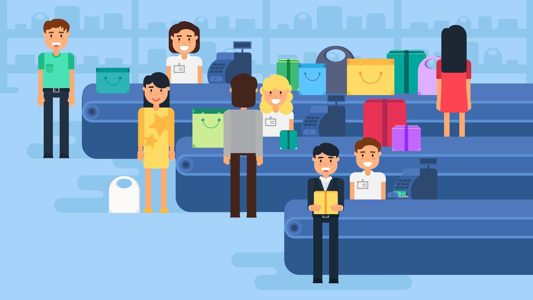ilustração do conceito de compras vetor
