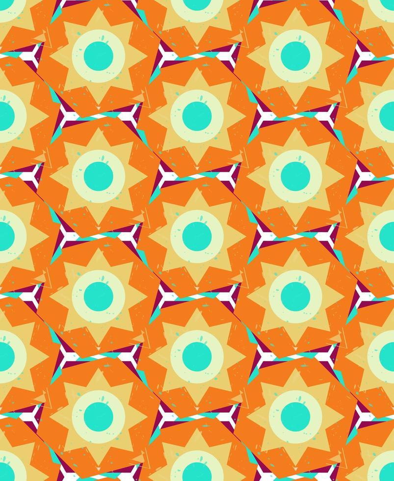 grunge colorido sem costura padrão geométrico vetor