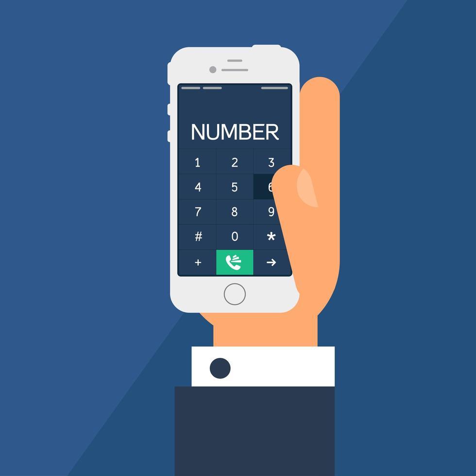 smartphone com um dial vetor
