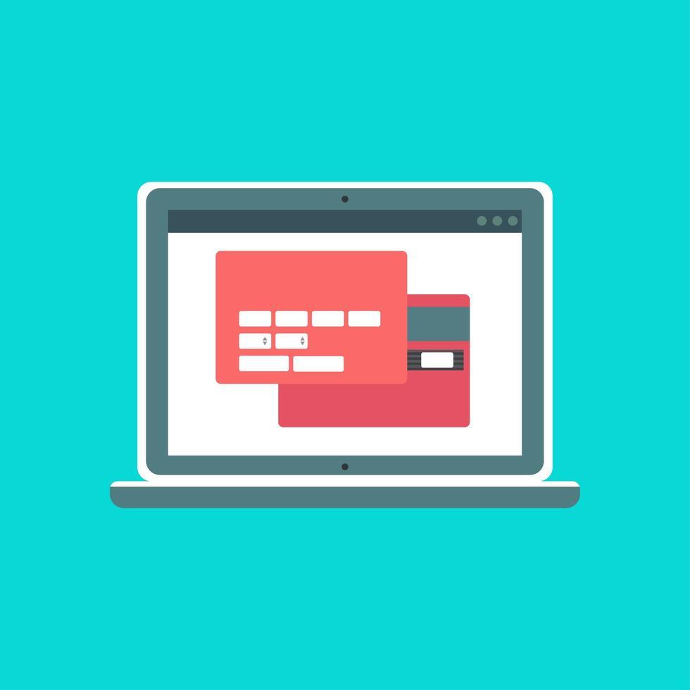 modelo da web de formulário de compra online de computador vetor