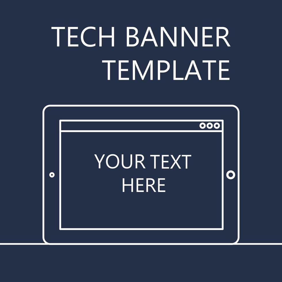 banner web com tablet vetor