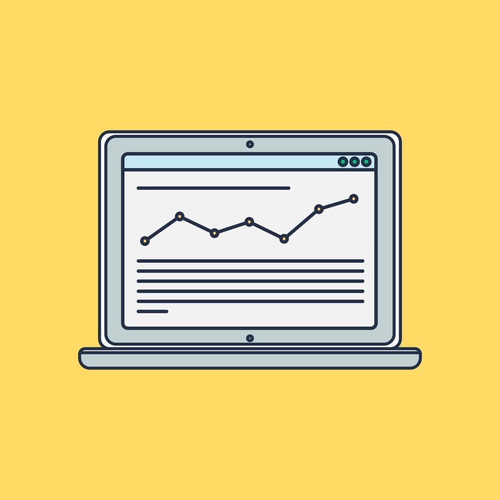 modelo da web de site de computador ou formulário de artigo vetor