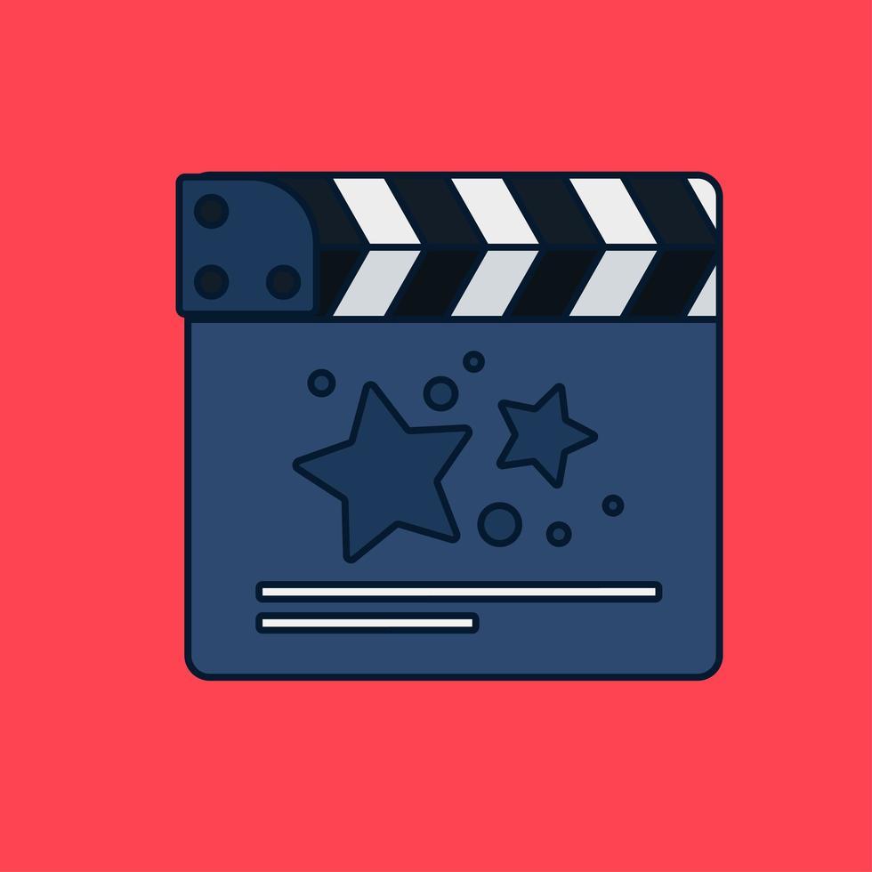 claquete de filme plano vetor