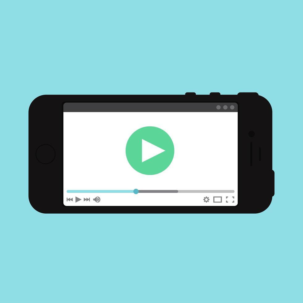 modelo da web de forma de vídeo para smartphone vetor