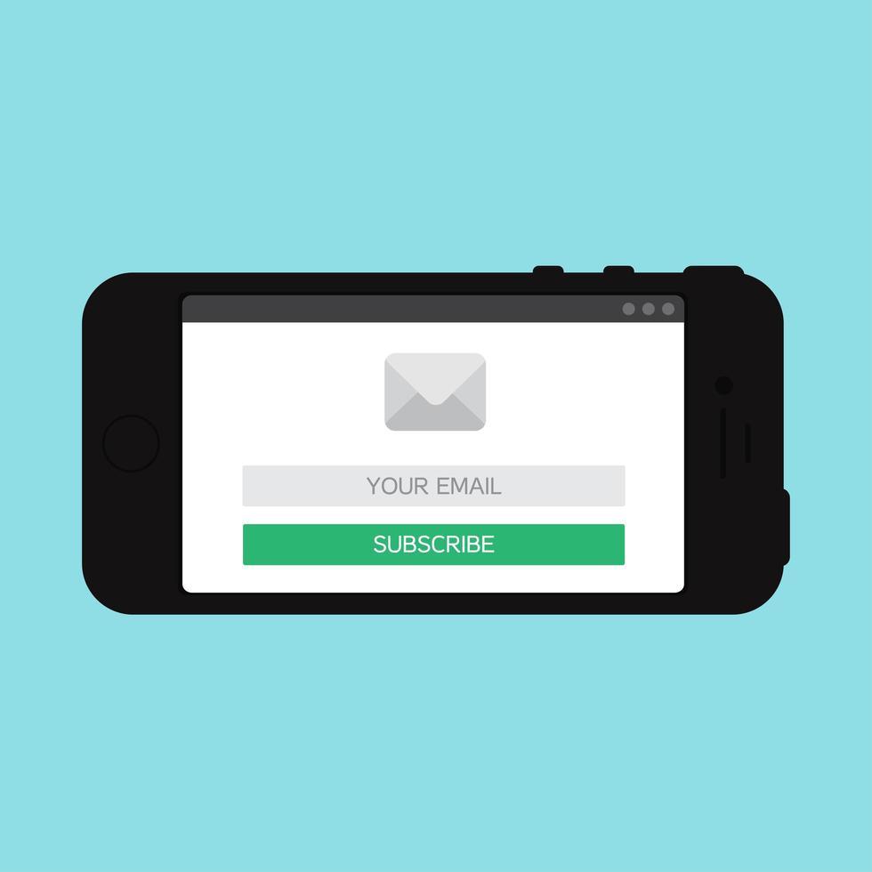 modelo da web de formulário de e-mail para smartphone vetor