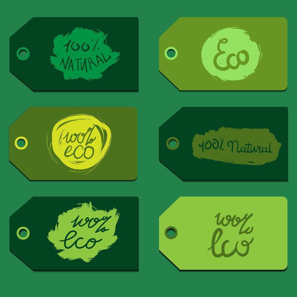letras ecológicas naturais vetor