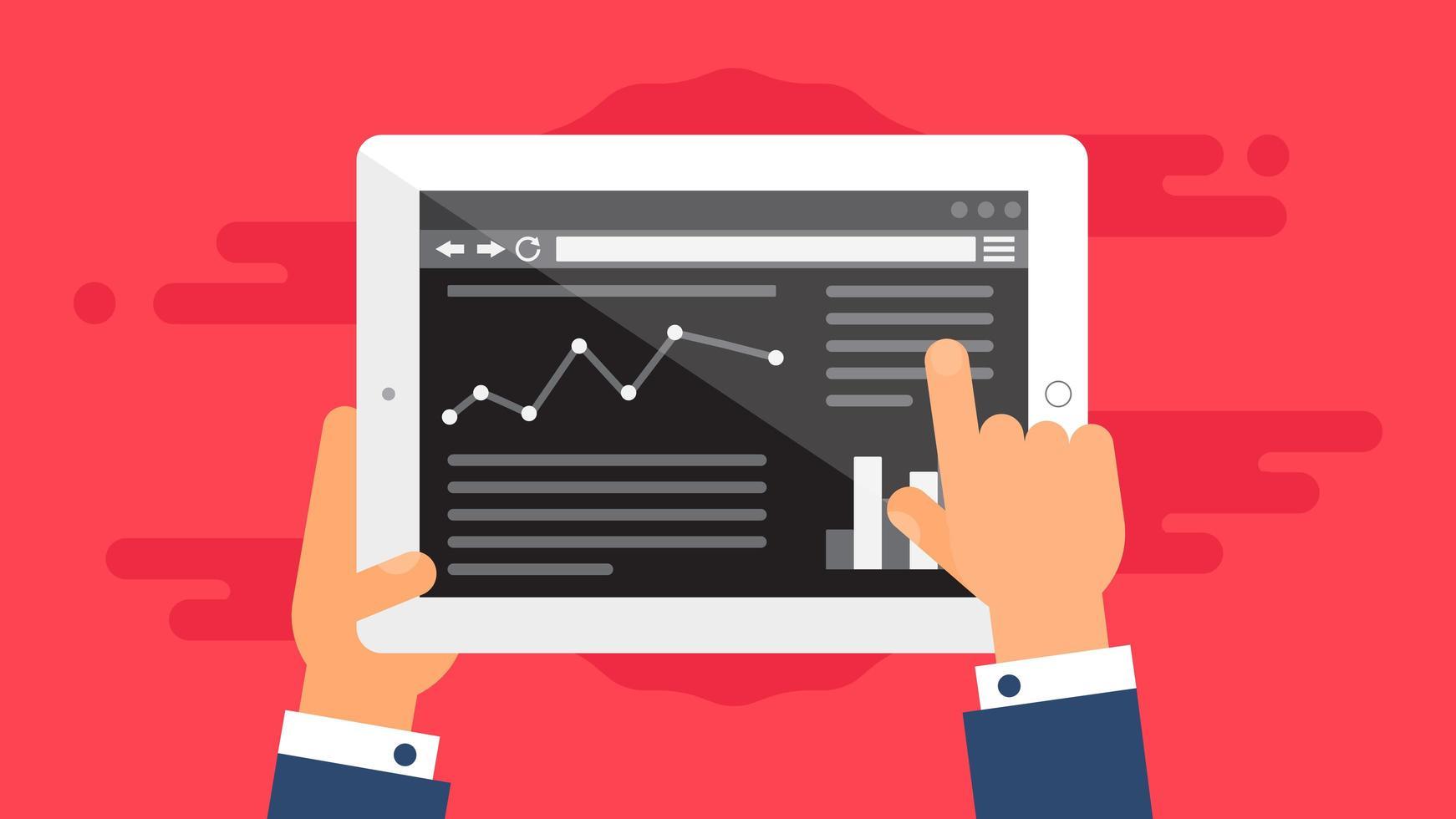 modelo da web de site para tablet ou formulário de artigo vetor
