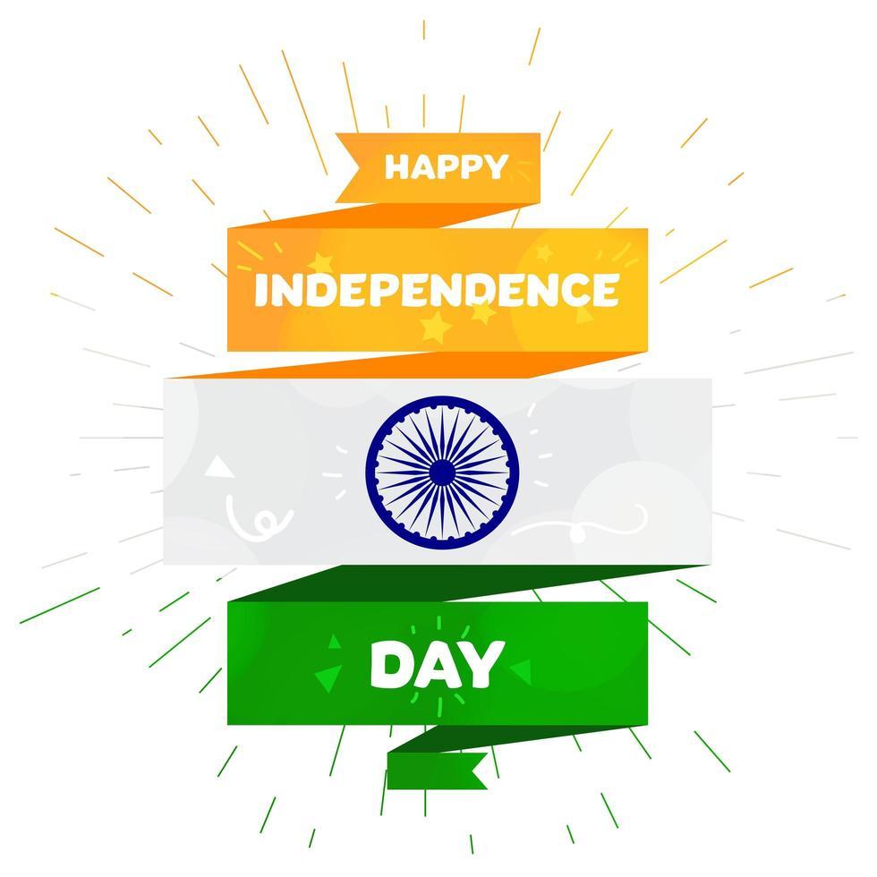 modelo de saudação feliz dia da independência da Índia vetor