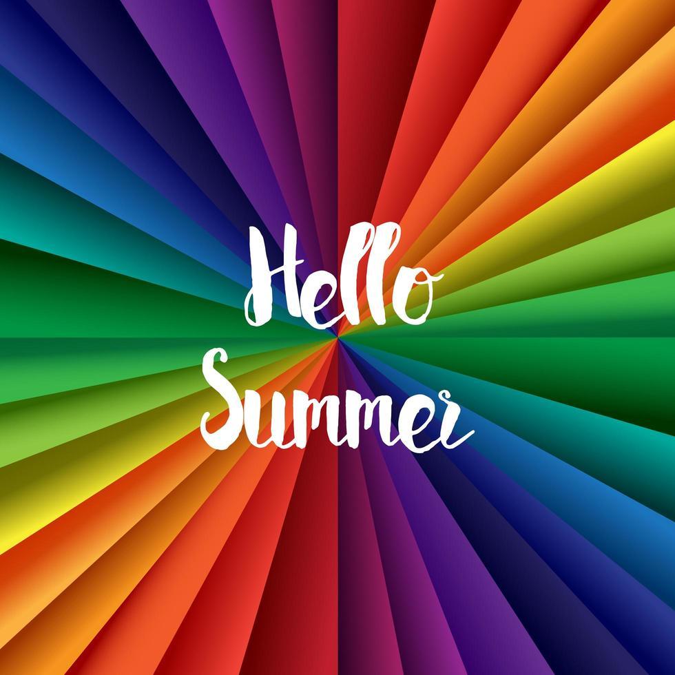 olá letras de verão vetor
