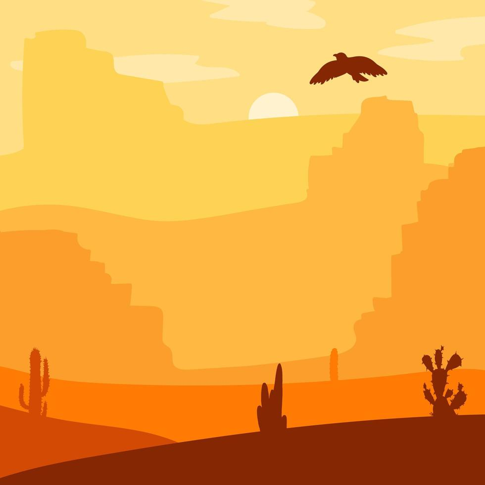 paisagem do oeste selvagem vetor